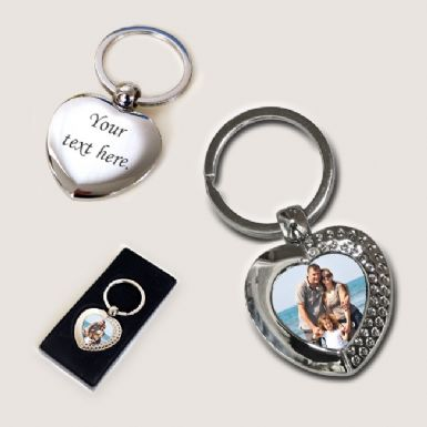 Photo Keyring - Heart | Someone Remembered